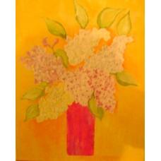 Maison Huit Huile sur toile, Folk / Art Naïf DSC04509 - Lilacs in a vase variation