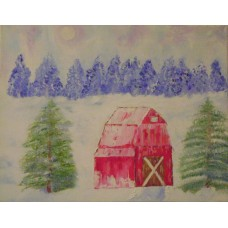 Maison Huit Huile sur toile, Folk / Art Naïf DSC04622x