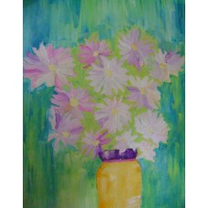 Oil on Canvas, Flowers in a vase by Armen