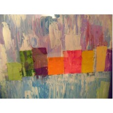 Maison Huit Huile sur toile, Folk / Art Naïf by Armen  - abstract  urban scapes - Variation