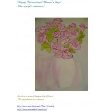 Maison Huit Greeting card by Armen - Happy Women's International Day